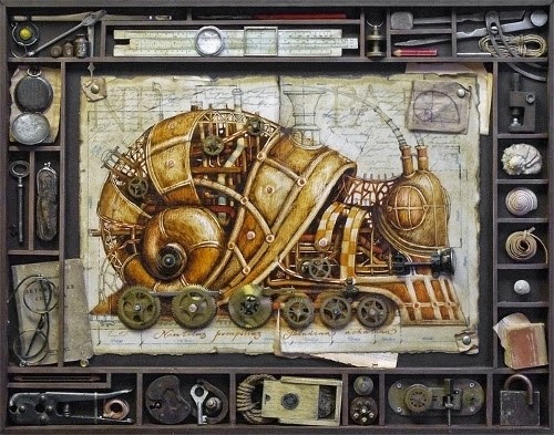 00-Vladimir-Gvozdev-Surreal-Steampunk-Animal-Drawings-www-designstack-co