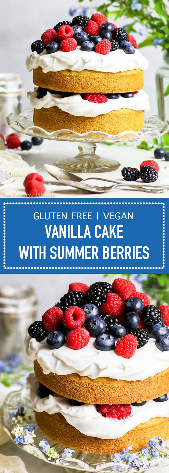 Vegan Vanilla Cake with Summer Berries