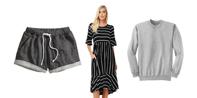 Gray Lounge Shorts, Striped Midi Dress, Waco Spice Market, Grey Crewneck Sweatshirt, College Blogger, Fashion Blogger, Lifestyle Blogger, Wisconsin Blogger, Austin Texas Blogger
