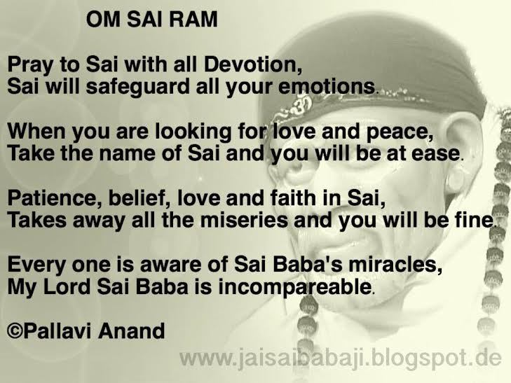 ॐ Om Sai Ram ॐ: Sai Baba Quotes and Poems