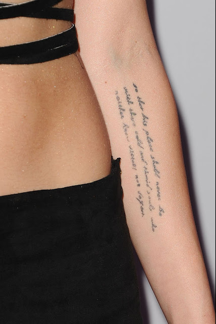 Miley Cyrus Roosevelt Tattoo on her left Forearm