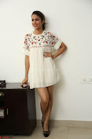 Lavanya Tripathi in Summer Style Spicy Short White Dress at her Interview  Exclusive 140.JPG