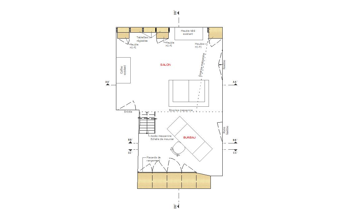 pascal ponchon architecte d 39 int rieur vannes morbihan bretagne cr ation d 39 un salon biblioth que. Black Bedroom Furniture Sets. Home Design Ideas
