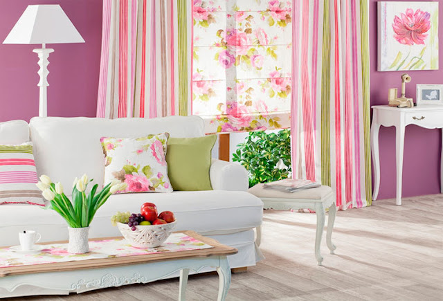 نصائح كيفية اختيار  الستائر الملونة مع ورق الحائط والأثاث؟
