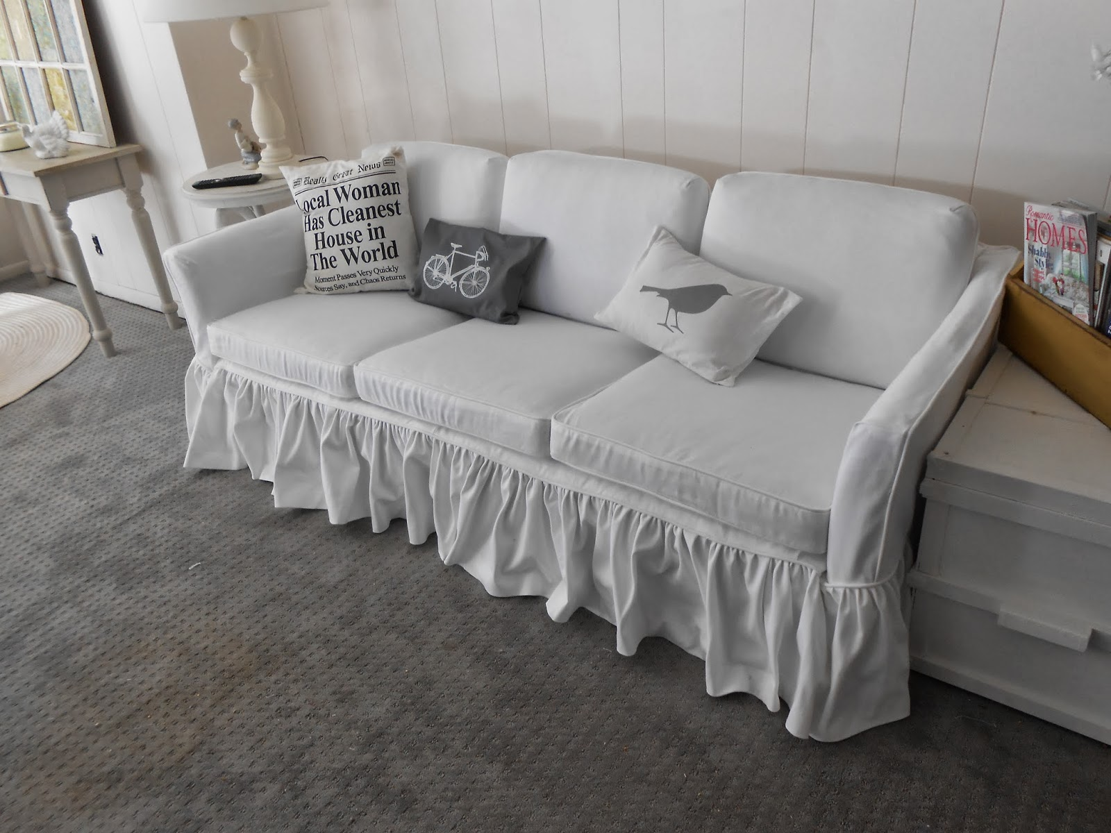 Surprising 6 Cushion Sofa With A Ruffled Skirt Pdpeps Interior Chair Design Pdpepsorg