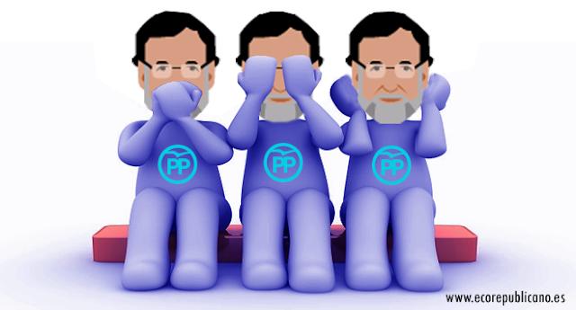 Rajoy no habla, no ve, no escucha