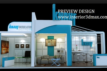 Jasa gambar desain 3d booth stand dekorasi pameran