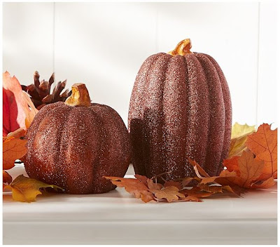 Pottery Barn Kids Glitter Pumpkins | #thanksgiving #thanksgivingdecor
