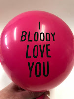 I Bloody Love You Balloons for Valentines by OilPatchBurlesque