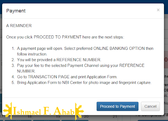 Online NBI Clearance - Step 9