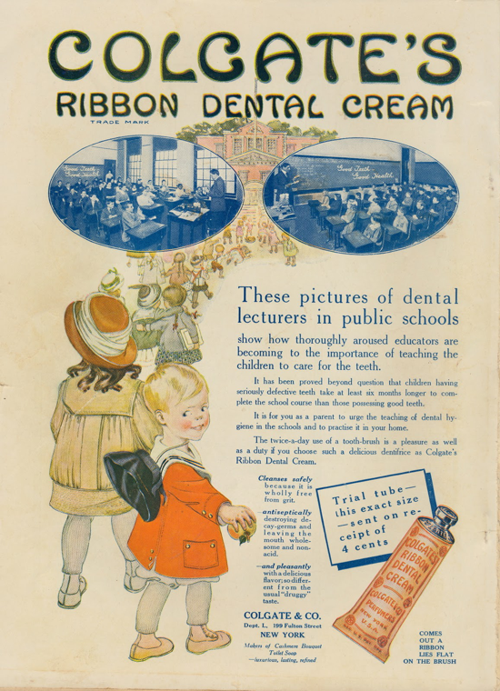 Colgate Dental Cream Ad 1911