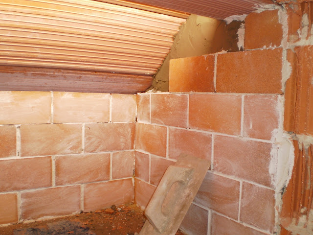El blog de la elena un blog dulce divertido y entretenido como construir chimenea de ladrillos - Como colocar una chimenea de lena ...