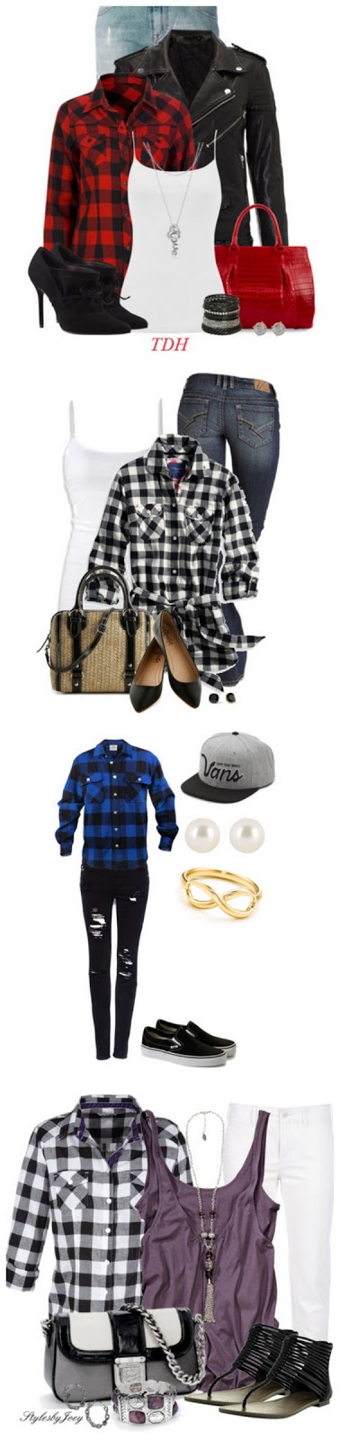 Buffalo Plaid Outfits on Crafting in the Rain ... Click through for sources