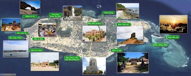 Bản đồ đảo Lý Sơn chi tiết-rõ ràng