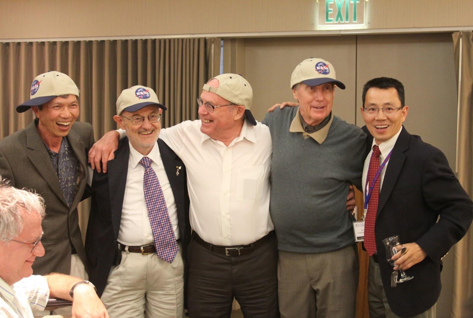 d474839f32b A Joyous Moment with the NASA Caps, L-R: H.T. Huynh, Bram van Leer, Phil  Roe, Antony Jameson and Z.J. Wang