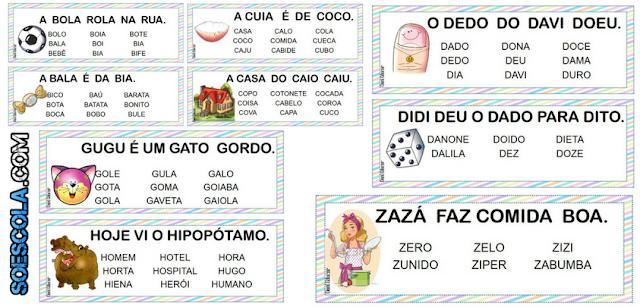 Ficha de Leitura - Alfabeto Colorido