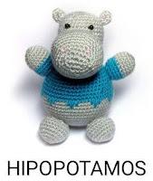 PATRONES HIPOPOTAMOS AMIGURUMI