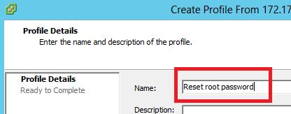 Definimos nombre al host profile