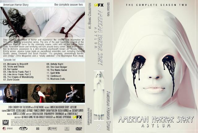 Capa DVD American Horror Story Asylum Segunda Temporada