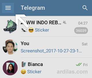 Tombol menu Telegram - Telegram Indonesia - Cara Mengatur Ke Bahasa Indonesia