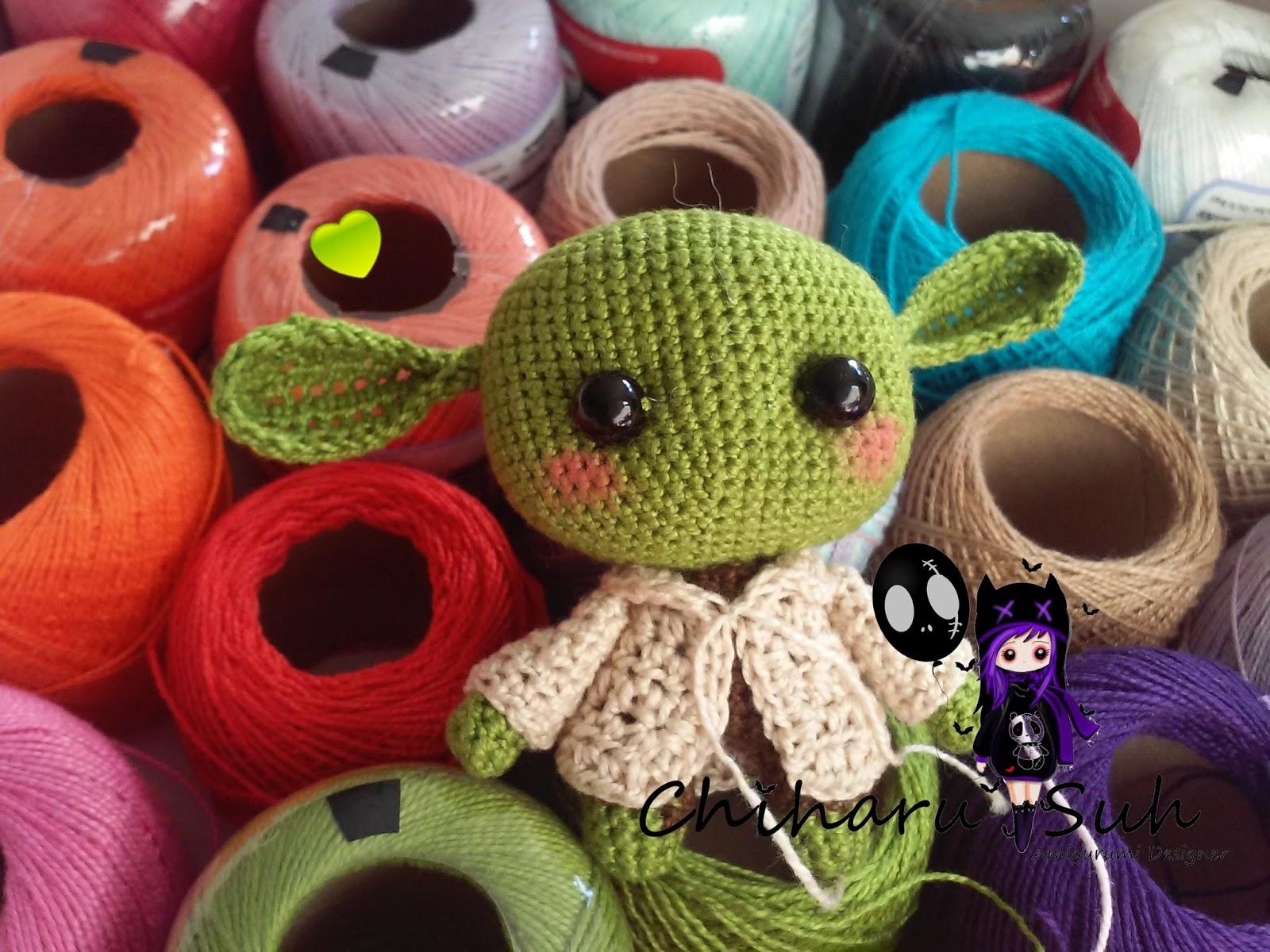 Bonecos Chewbacca E Mestre Yoda Em Crochê Amigurumi - R$ 189,00 em ...   1200x1600