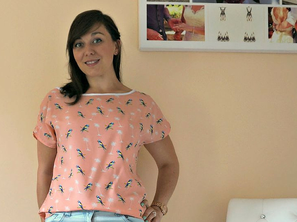 Quick and easy chiffon shell top