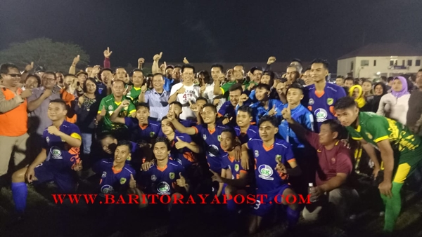 Tim Sepak Bola Barut, Tundukan Katingan