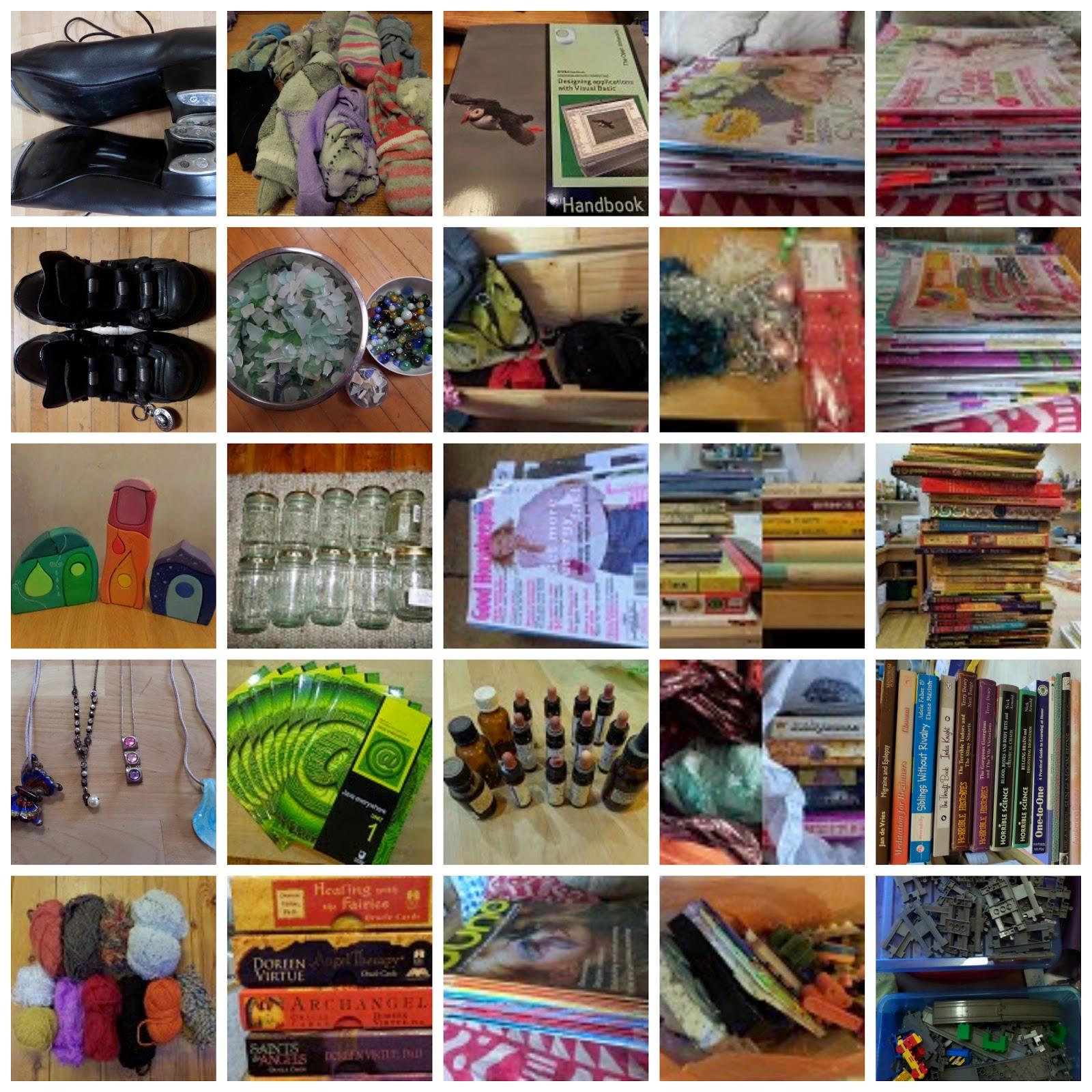 Items got rid of during minimalist January