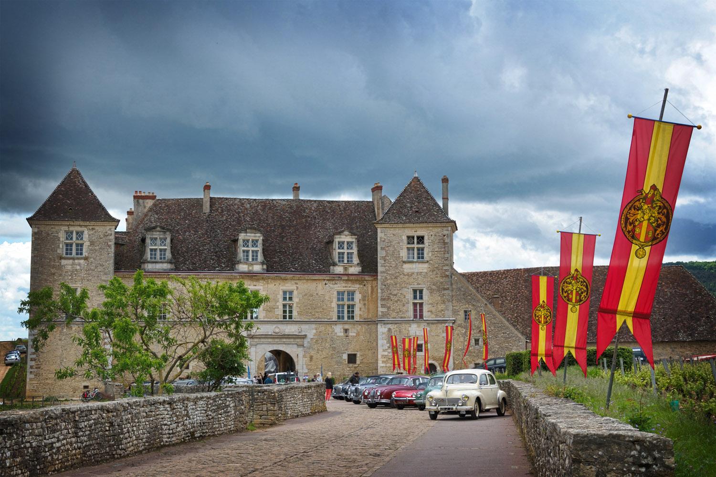 Château du Clos de Vougeot under thundery skies