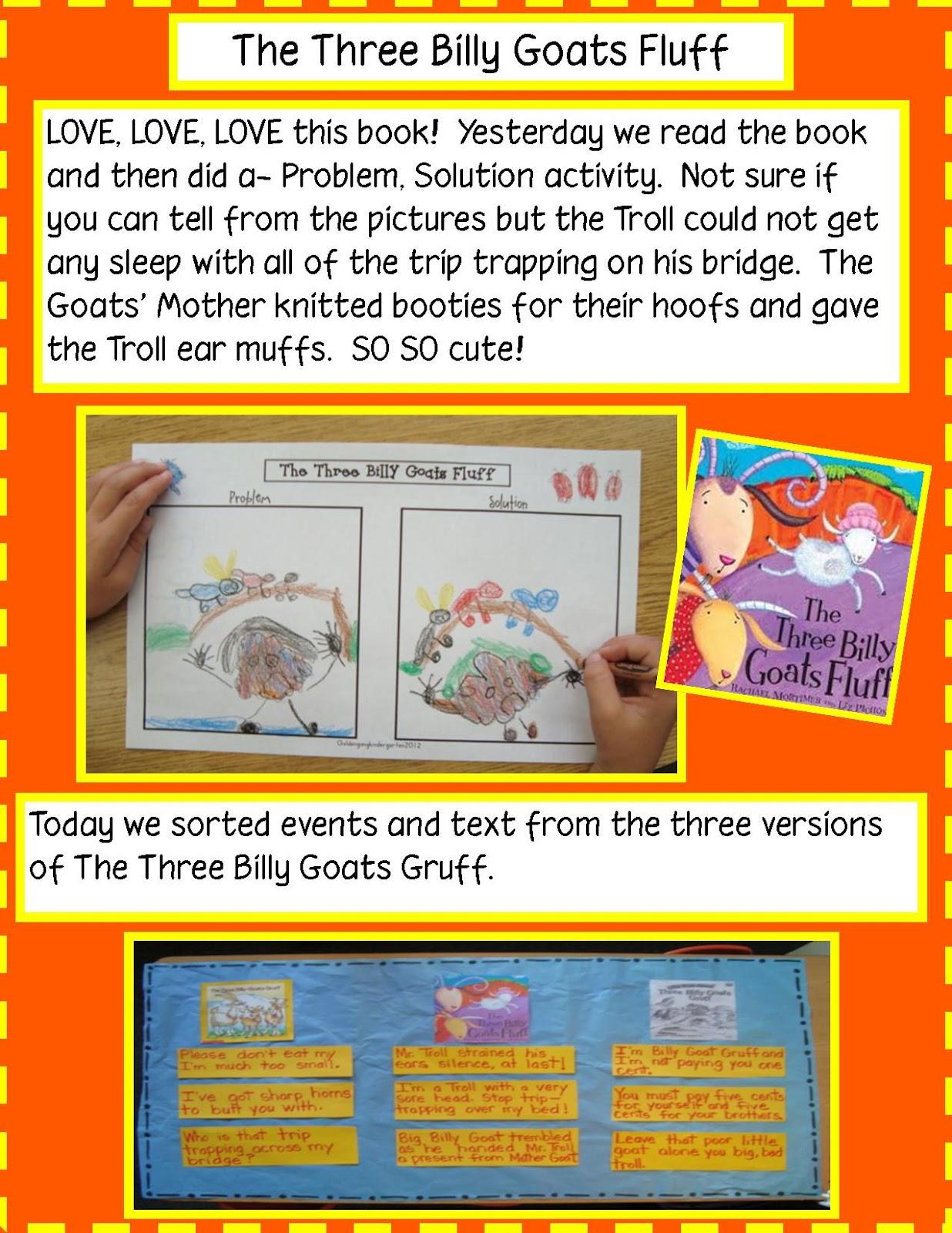 Golden Gang Kindergarten Three Billy Goats Fluff And Number 5