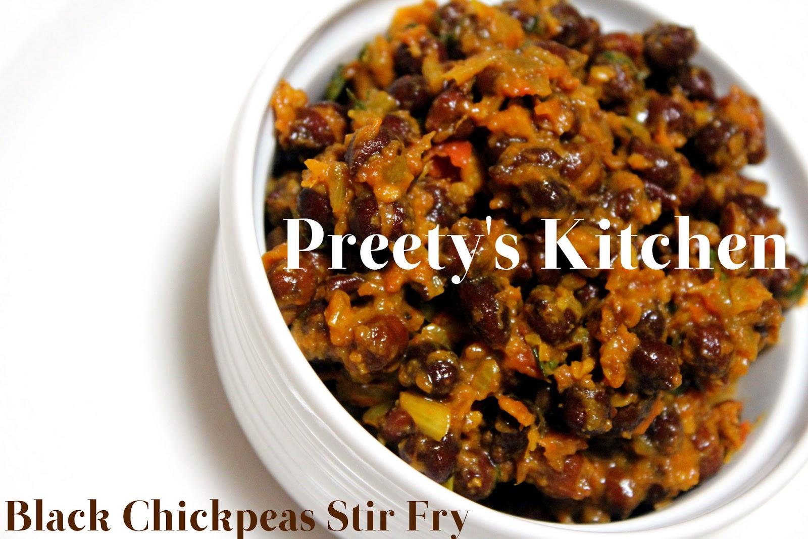 Preety's Kitchen: Kala Chana Masala/ Black Chickpeas Stir Fry