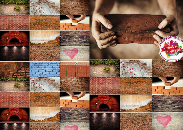 Download collection quality images of various tissue brick walls