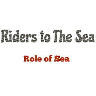 "Synge uses nature as a background, character and symbol in his plays. Nature is the protagonist in many of his plays especially in ""Riders to The Sea"" where nature fills the minds of the characters and mounds their actions, even their moods and fate. The play is dominanted by fate.   A Hungry Demon: In ""Riders to The Sea"" the sea represents fate. The sea is a great factor in the life of me people of the Aran Islands. It is the source of their living, and at the same time devours the man-folk as they go out for earning their living. Moreover, the sea gives them passage to the markets at the mainland where they go to bye or sell things. There is no alternative for them but to ride the sea to maintain their family's existence. All the man-folk of Maurya were devoured by the sea when they ventured to the sea to earn their living. Thus the sea is a hungry demon devouring the humans that comes its way.  An Impressive Character: The sea is indeed the most impressive character in the play. As the play begins the sea appears as a terrorising living personality. Cathleen can't believe that the shirt and stocking removed from a drowned man can be Michael's. But mysteries are the ways of the sea. It has taken the dead body of Michael to far off Donegal in the course of the wanton play of its waves and current.  A Supernatural Being:  The sea is also invested with supernatural suggestions. It is the archetypal symbol of fate. The rides are man who are engulfed by the dark, mysterious and inscrutable fate. The Sea and humanity are mysteriously Interlocked. It has taken a heavy toll of the eight lives of the poor peasant family of Maurya. When last son is drowned, she is relieved at the thought that---  ""The sea can do no more harm to her"".   This is the heart rending sorrow of the bereaved mother.  As a Villain: Some critics consider the sea as a Villain of Maurya's life causing the tragedy of her life. But it would be wrong to consider the sea as the villain because being a powerful element of nature is is governed by its own moods like anything else in nature. Besides, the sea provides livelihood to people as it does to the Maurya family too. We may therefore say that Maurya was fate to suffer at the hands of vagaries of the sea.  As a faultless natural element: In ""Riders to The Sea"" Maurya's family members fall victim to the fury of the sea. But it was their fate to be caught up in a tempest on the sea all of a sudden and be killed. Bartley's life could be safe if he had listen to his mother's advice and if he had not gone to the Galway fair. He decided to go to the fair to sell the horses because he thought that it was his duty to look after his family as there was no other male member alive in the family and there was no other boats to go to the fair for two weeks or more. So it is necessity of the family for which Bartley felt compelled to go to sea. So it is not the fault of the sea for which Bartley died.  Thus Nature in the drama is a background, a character and a symbol. The processes of nature have only worked for man's woe. It is the agent of the fate which is the most inevitable element and which affects the life of the Maurya's family relentlessly. Nobody could do anything about it at all. They just had to accept their lot. If it were hot her destiny to suffer Bartley would have postponed his visit to the Galway fair. The ruthless and cruel hand of Maurya's fate forcibly led Bartley to his death to complete her tragedy. Thus it is the inevitability of fate which in the shape of Nature dominates the action of the play."