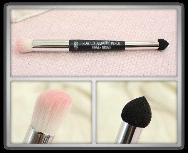 Etude House play 101 blending pencil finger brush makeup k korean beauty brushes review haul blog colourpop eye shadow