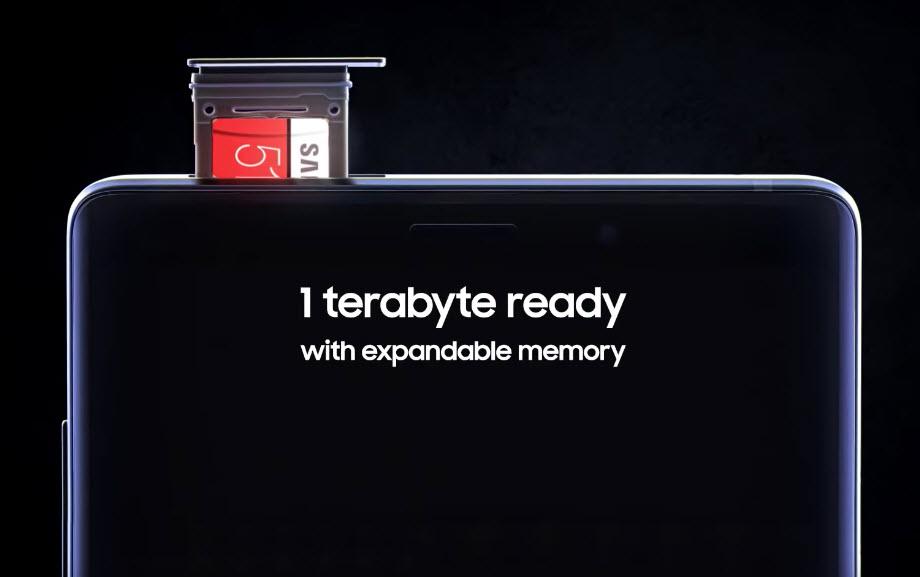 Galaxy Note 9 da Samsung vai permitir até 1TB de armazenamento partilhado
