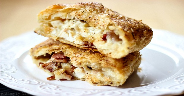 Chicken Alfredo Bacon Pastry Pockets Recipe