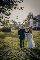 bride and groom at sanibel island wedding