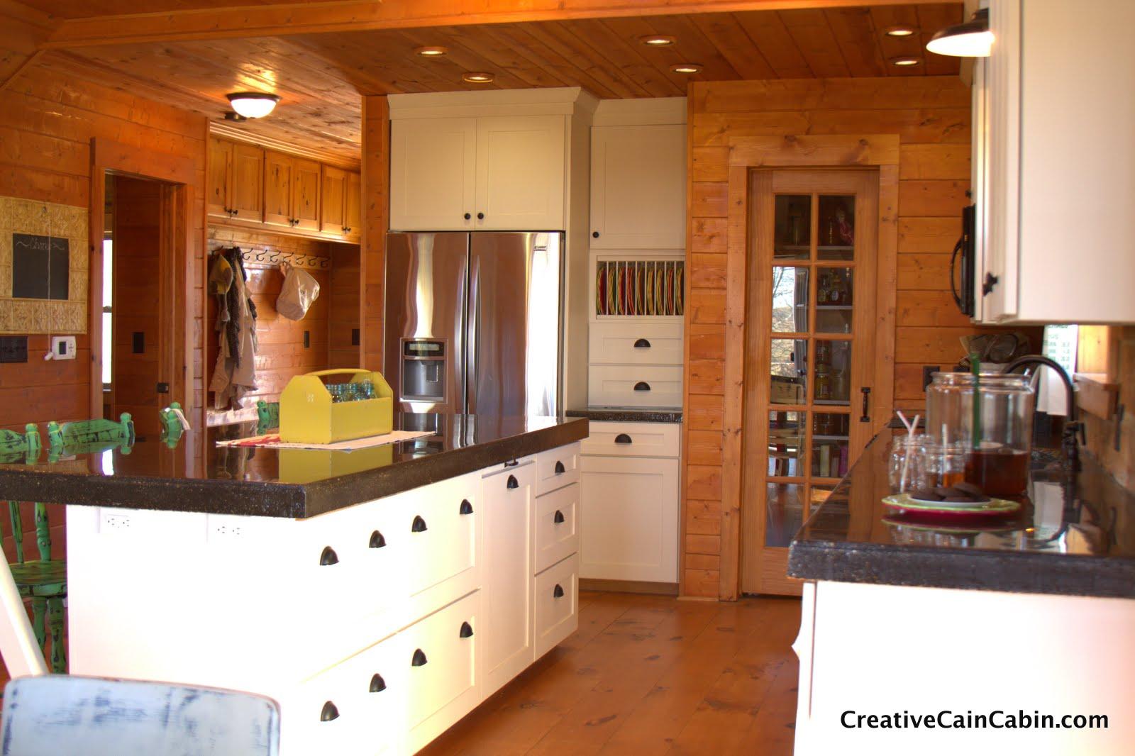 White Kitchen In A Log Home Creative Cain Cabin
