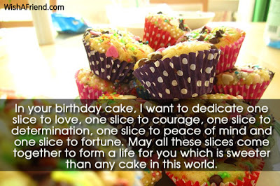 Happy Birthday massages wishes for friends: in your birthday cake, i want  to dedicate one slice to love,
