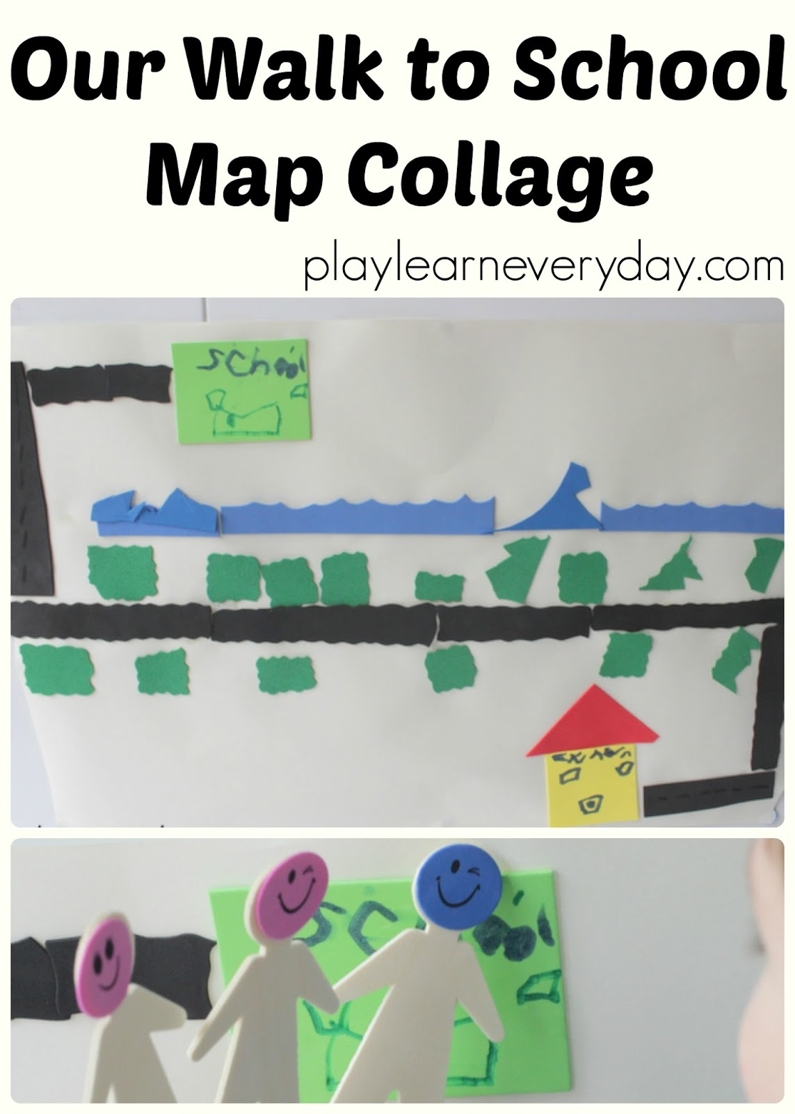 Our Walk To School Map Collage