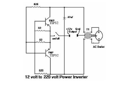 Rangkaian Inverter Sederhana 12volt Dc ke 220volt AC