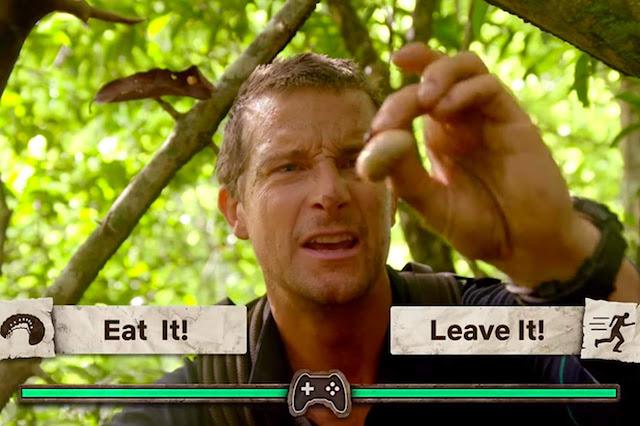 Bear Grylls en la primera temporada de 'Sobrevivir es el reto'.