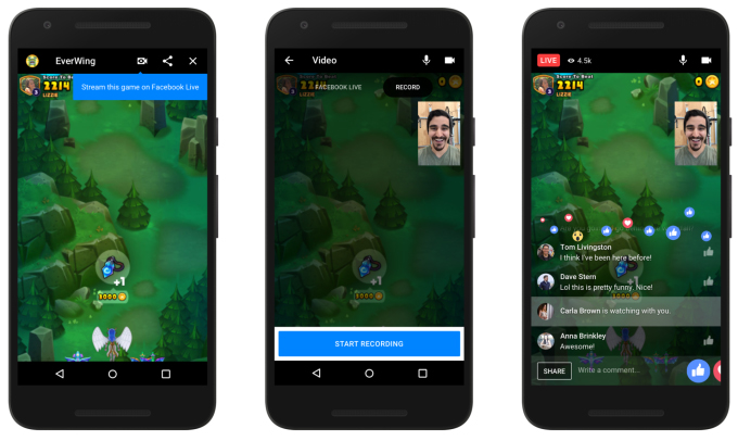 Facebook is brings live-streaming and video chats to its  Games platform