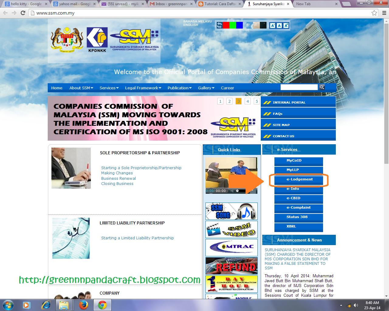 SSM: Greennnpanda Craft: [Tutorial] SSM Business Online