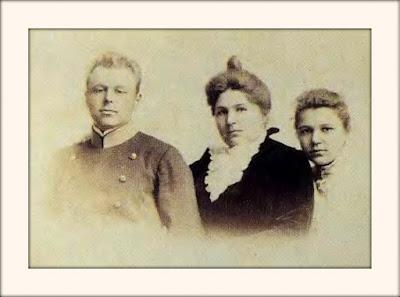 Vladimir Shevelev, Alexandra Sheveleva, and Margarita Sheveleva in 1890 in Vladivostok, Russia
