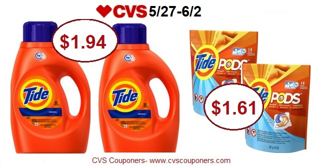 http://www.cvscouponers.com/2018/05/stock-up-pay-161-for-tide-pods-or-194.html