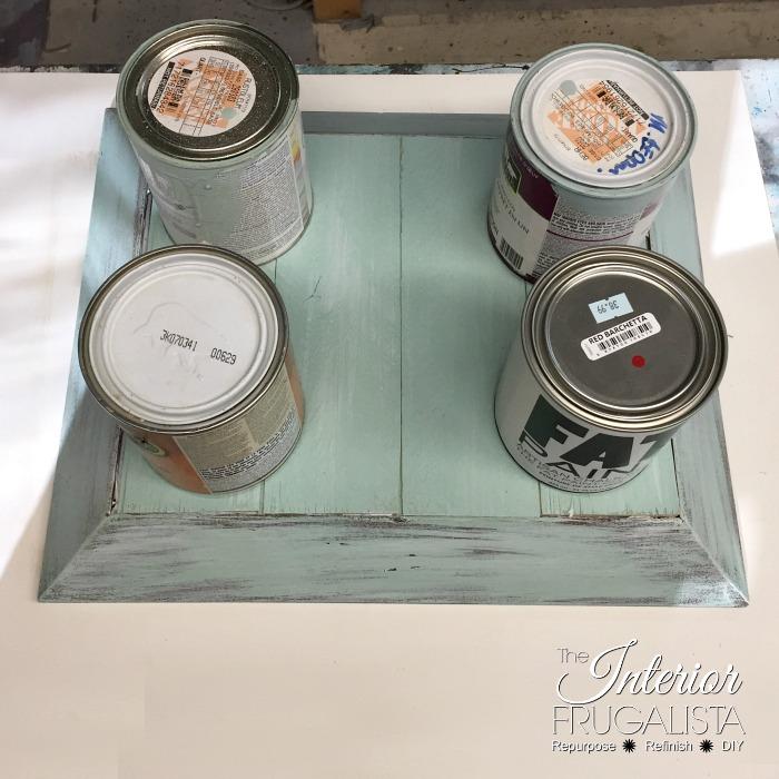 Picture Frame Serving Tray Slat Bottom Glued