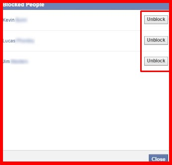 How I do unblock someone on facebook