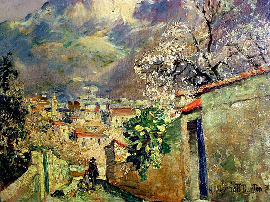 Harry Marriott Burton, Mallorca en Pintura, Cala San Vicente, Mallorca en Pintura, Paintirng of Cadaqués, Mallorca pintada, Paisajes de Mallorca, Mallorca en Pintura