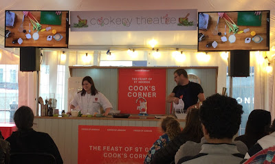 Pic of demonstration cookery session with TV MasterChef